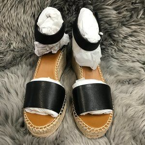 Franco Sarto Women's Wedge Sandals: Size 8 | Black